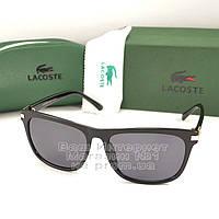 Мужские солнцезащитные очки Lacoste прямоугольные стильная классика модель Лакост реплика