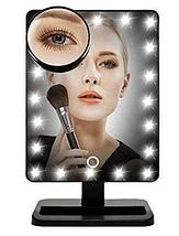 Зеркало настольное косметическое с подсветкой 16 LED MIRROR USB, фото 2