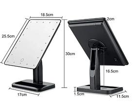 Зеркало настольное косметическое с подсветкой 16 LED MIRROR USB, фото 3