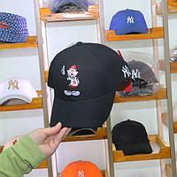 Кепка Бейсболка New York Yankees NY MLB Mickey Нью-Йорк Янкиз Микки черная