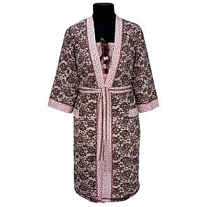 Комплект женский Ажур ночная рубашка и халат, фото 2