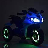 Мотоцикл детский электро мобиль Bambi 3683l, фото 5