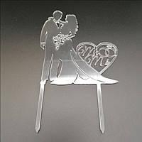 Акриловый топпер для свадебного торта 14х12 см, арт. AK-TPR-001, фото 1