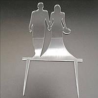 Акриловый топпер для свадебного торта 14х9 см, арт. AK-TPR-006, фото 1