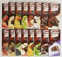 Ассортимент компании Torras – производителя шоколада без сахара