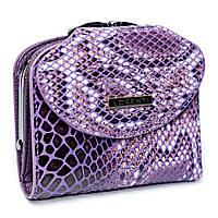 Женский кожаный мини-кошелек фиолетовый Lorenti 55180-ZSN