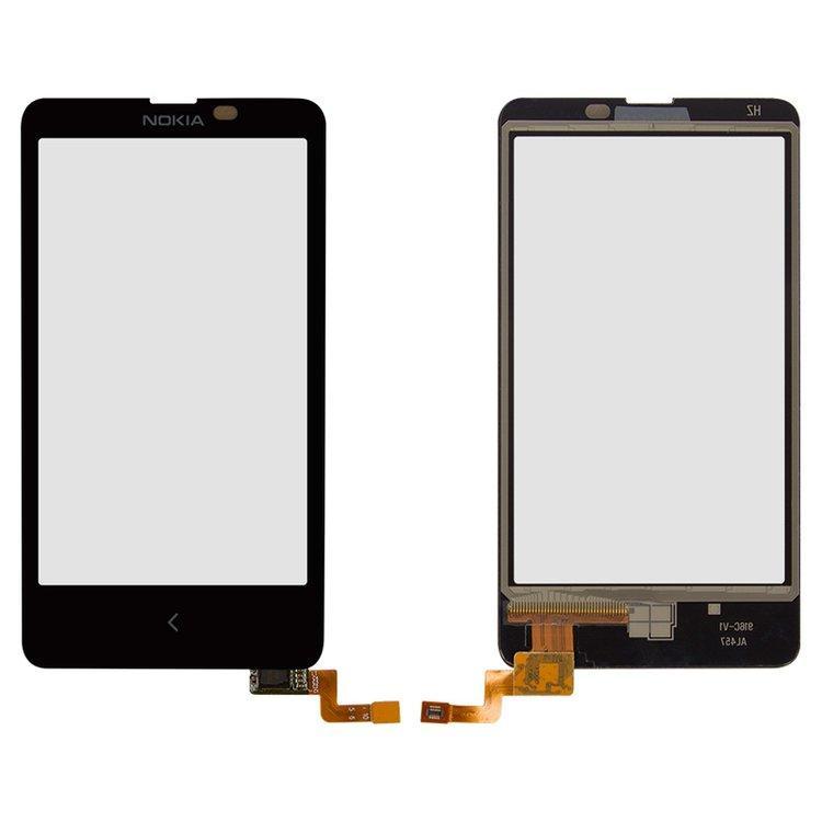 Сенсор (тачскрин) Nokia X Dual Sim (RM-980) черный