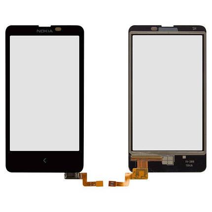Сенсор (тачскрин) Nokia X Dual Sim (RM-980) черный, фото 2