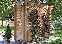 Беседка пергола деревянная из профилированного бруса 2,5х1,1 Log Cabin 001, низкая цена от производителя