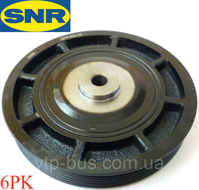 Ремінний шків колінчастого валу (6PK) на Renault Trafic 1.9 dCi з 2001... SNR (Франція) - DPF355.22