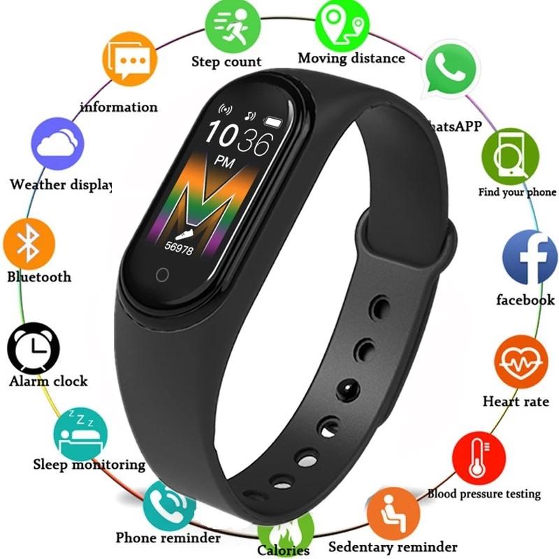 Фитнес браслет M5 Band Smart, смарт часы mi band m5 шагомер, фитнес трекер, пульс, монитор сна/ копия.