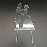 Акриловый топпер для свадебного торта 15х9 см, арт. AK-TPR-017, фото 1