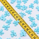 """Гудзики на дві дірочки """"Блакитні ведмедики"""", №013, фото 2"""