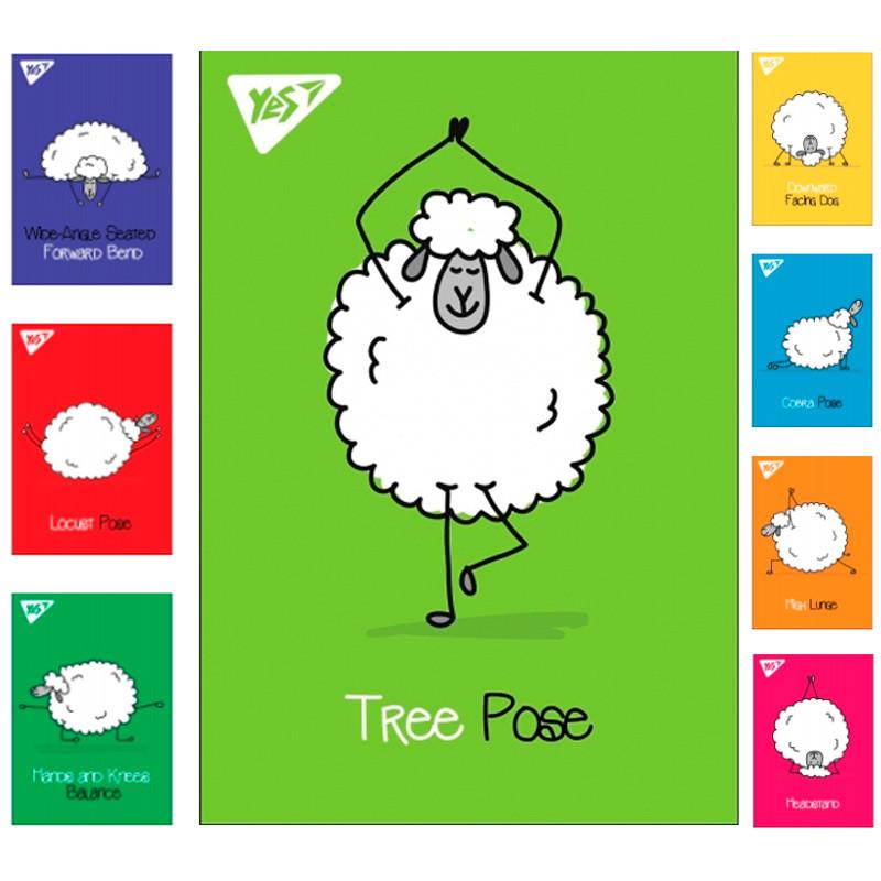 """Блокнот А7 / 48 кл клей YES """"Yoga sheeps"""""""