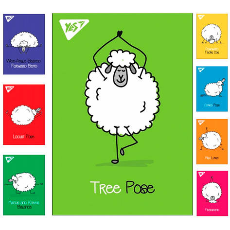"Блокнот А7 / 48 кл клей YES ""Yoga sheeps"", фото 2"