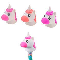 """Ластик-насадка на карандаш YES """"Unicorn"""" 3 цветов/уп."""