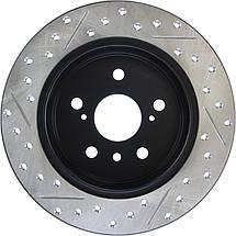 TOYOTA CAMRY 50 - Американка / Тормозной диск с насечками и перфорацией STOPTECH Premium Sport, фото 3