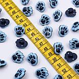 """Пуговицы детские """"Лапки"""" голубого цвета 16 мм, №023, фото 2"""