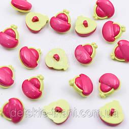 """Гудзики дитячі """"Заманці"""" рожево-салатового кольору 16 мм, №024"""