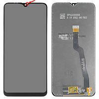 Дисплей для Samsung A105 Galaxy A10, A105F/DS Galaxy A10, черный, с сенсорным экраном, оригинал (переклеено ст