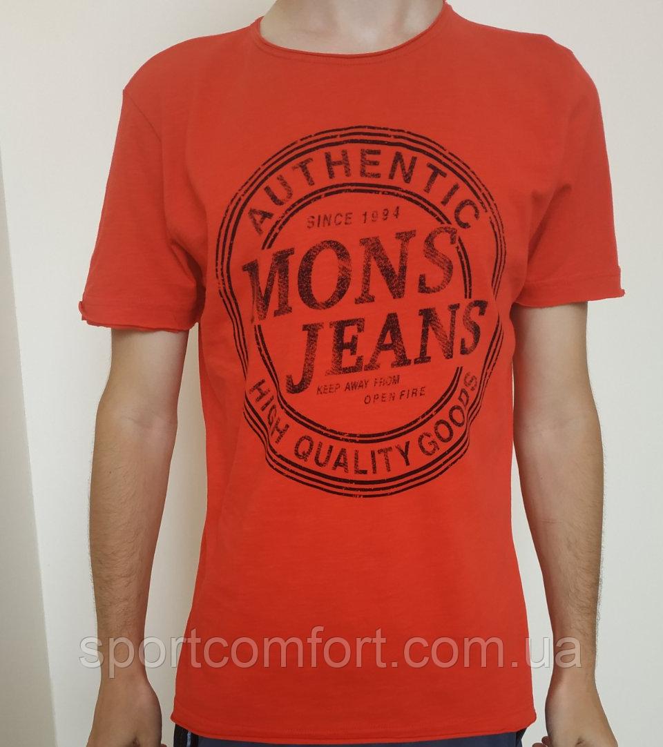 Мужская футболка Mons Jeans красная, зеленая, белая, синяя, серая