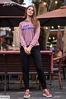 Тонкий женский свитшот с капюшоном в расцветках арт 15211