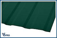 Профнастил стеновой ПС-10, RAL 6005 Цвет Зеленый мох (матовый).