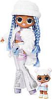 ЛОЛ Зимнее Диско Оригинал Снежный Ангел и сестричка O.M.G. Winter Disco Snowlicious Fashion Doll & Sister