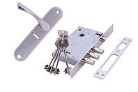 Комплект замка TRION 5555-F-Y+SAFE 55mm SN/CP
