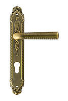 Дверные ручки на планке резные Trion ЦАМ CESARE Dark.MAB 85 mm
