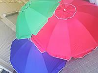 """Зонт торговий """"2,5 м"""" на 10 металопластикових спиць срібне напилення, клапан"""
