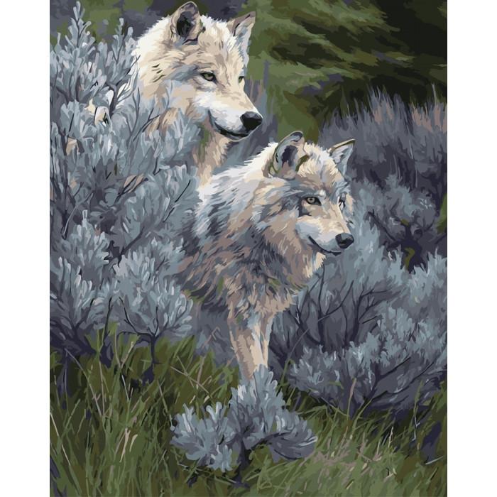 Картина по номерам Пара волков 2 ТМ Идейка 40 х 50 см КНО2435