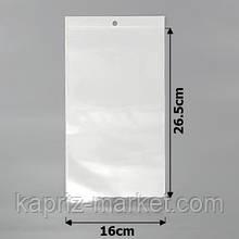 Пакеты упаковочные 16х26.5см целлофановые с белым фоном