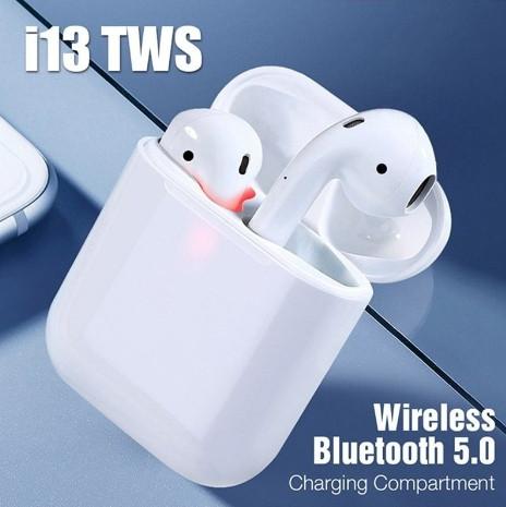 Беспроводные наушники i13 TWS Bluetooth 5.0 с кейсом (Белый)