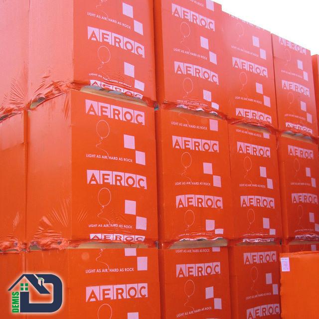 Газоблоки (газобетон) Aeroc оптом