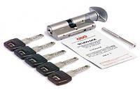 Цилиндр AGB (Италия) ScudoDCK/65 мм, ручка-ключ, 33/33, мат.хром