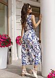 Льняное платье с декольте на запах, фото 2