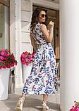 Льняное платье с декольте на запах, фото 3