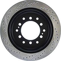 Гальмівний диск задній Toyota FJ Cruiser з насічками і перфорацією Stop Tech, фото 3