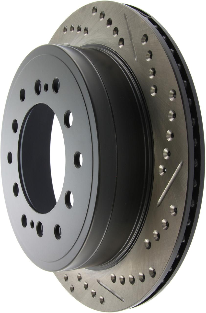Гальмівний диск задній Toyota FJ Cruiser з насічками і перфорацією Stop Tech
