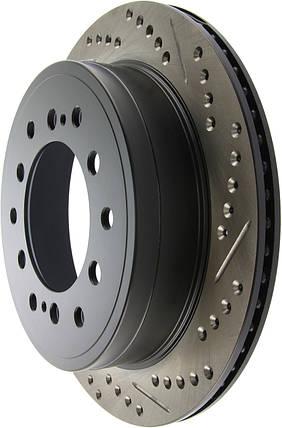 Гальмівний диск задній Toyota FJ Cruiser з насічками і перфорацією Stop Tech, фото 2