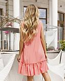 Розовое платье-трапеция без рукавов, фото 3