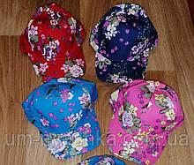 Бейсболка кепка подростковая Цветы 52-54р.