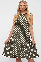 Эксклюзивное платье в горошек,  размер  от 50 до 56, фото 2