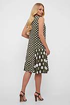 Эксклюзивное платье в горошек,  размер  от 50 до 56, фото 3