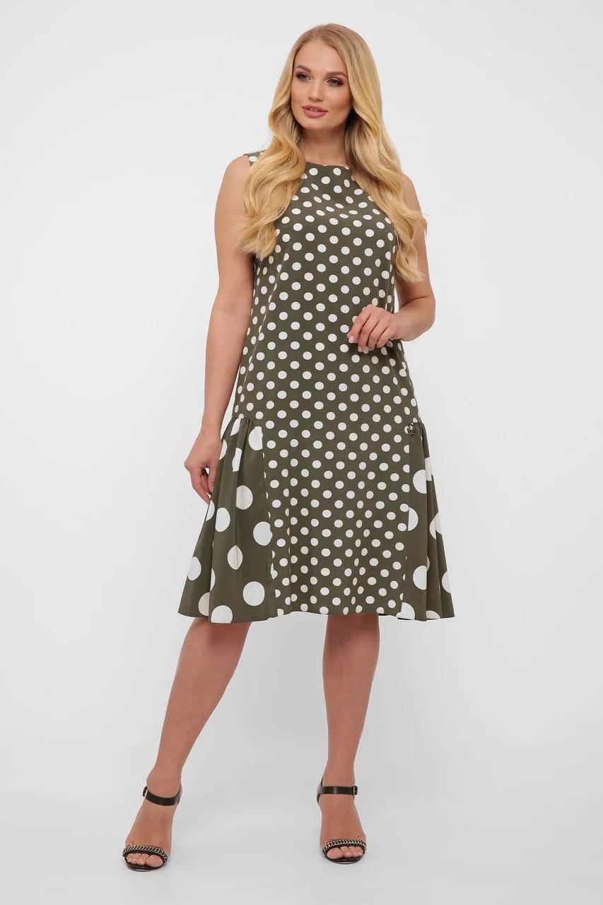 Эксклюзивное платье в горошек,  размер  от 50 до 56