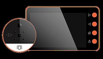 """Видеоглазок с датчиком движения Home Light G8 4,5"""" HD"""