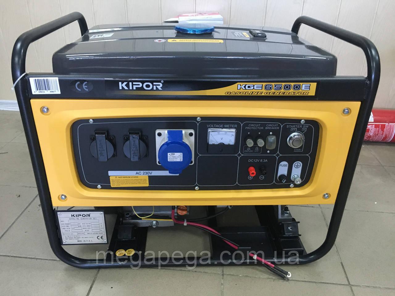 Бензиновий генератор Kipor KGE6500E