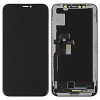 Дисплей для iPhone X, черный, с сенсорным экраном, с рамкой Oled GX hard