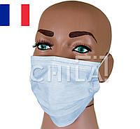 Маски медицинские (50 шт/уп) трехслойные, Франция, фото 1